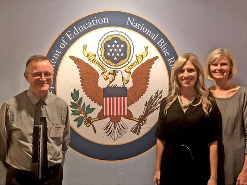 Rosy Mound representatives, from left to right: Kevin Blanding, Principal; Heather Skogen, 4th grade teacher; Kathy Lampen, 4th grade teacher